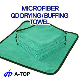 5pcs of Microfiber QD Drying Buffing Detailing Cleaning Towel from Atop Korea