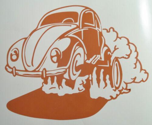 CUSTOM MADE MUSCLE VW BEETLE  VINYL WINDOW STICKER