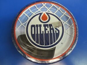 Edmonton-Oilers-NHL-Pro-Hockey-Sports-Banquet-Party-9-034-Paper-Dinner-Plates