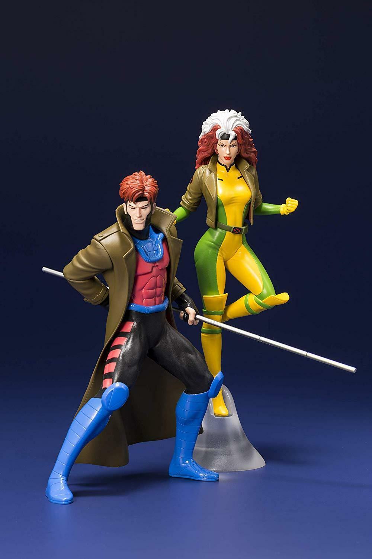 92  X-MEN GAMBIT & Rogue ARTFX + Statua retrò classeeico Marvel Comics NUOVO  spedizione gratuita