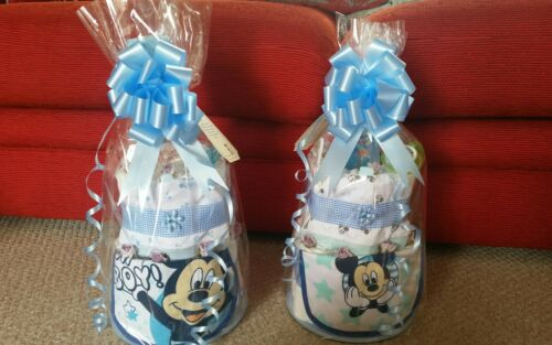 Mickey mouse boy new baby nappy cake baby shower gift