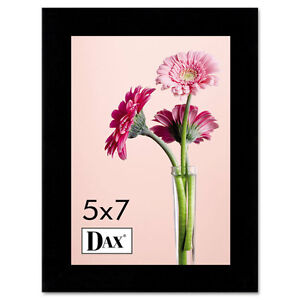 DAX-Solid-Wood-Photo-Picture-Frame-Easel-Back-5-x-7-Black