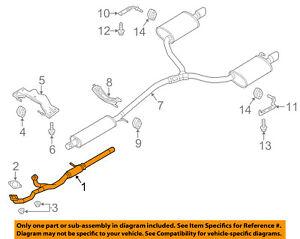 ford oem 13 17 taurus 3 5l v6 exhaust system exhaust pipe dg1z5g274c Emissions System Diagram details about ford oem 13 17 taurus 3 5l v6 exhaust system exhaust pipe dg1z5g274c