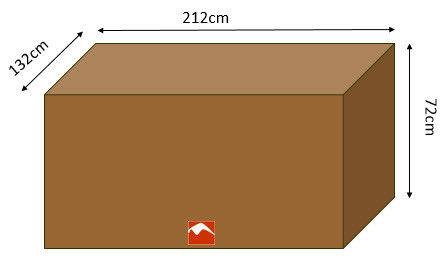 Housse pour table de jardin rectangulaire 212x132cm marron confort
