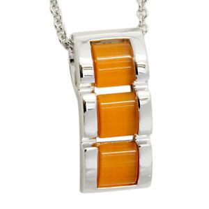 Silver-Trends-Halskette-echt-Silber-925-Sterling-mit-Katzenauge-45-cm-lang-Kette