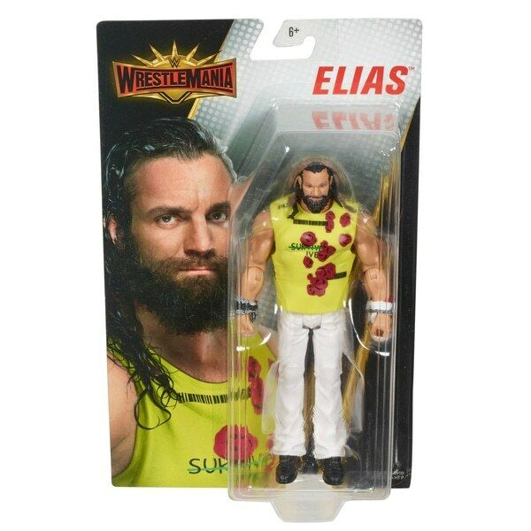 Wwe Elias Chemise Wrestlemania 35 Mattel Basic Séries Figurine Catcheur Jouet