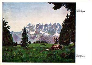 Sommer in den Alpen , Reprint , Ansichtskarte , ungelaufen - Rostock, Deutschland - Sommer in den Alpen , Reprint , Ansichtskarte , ungelaufen - Rostock, Deutschland