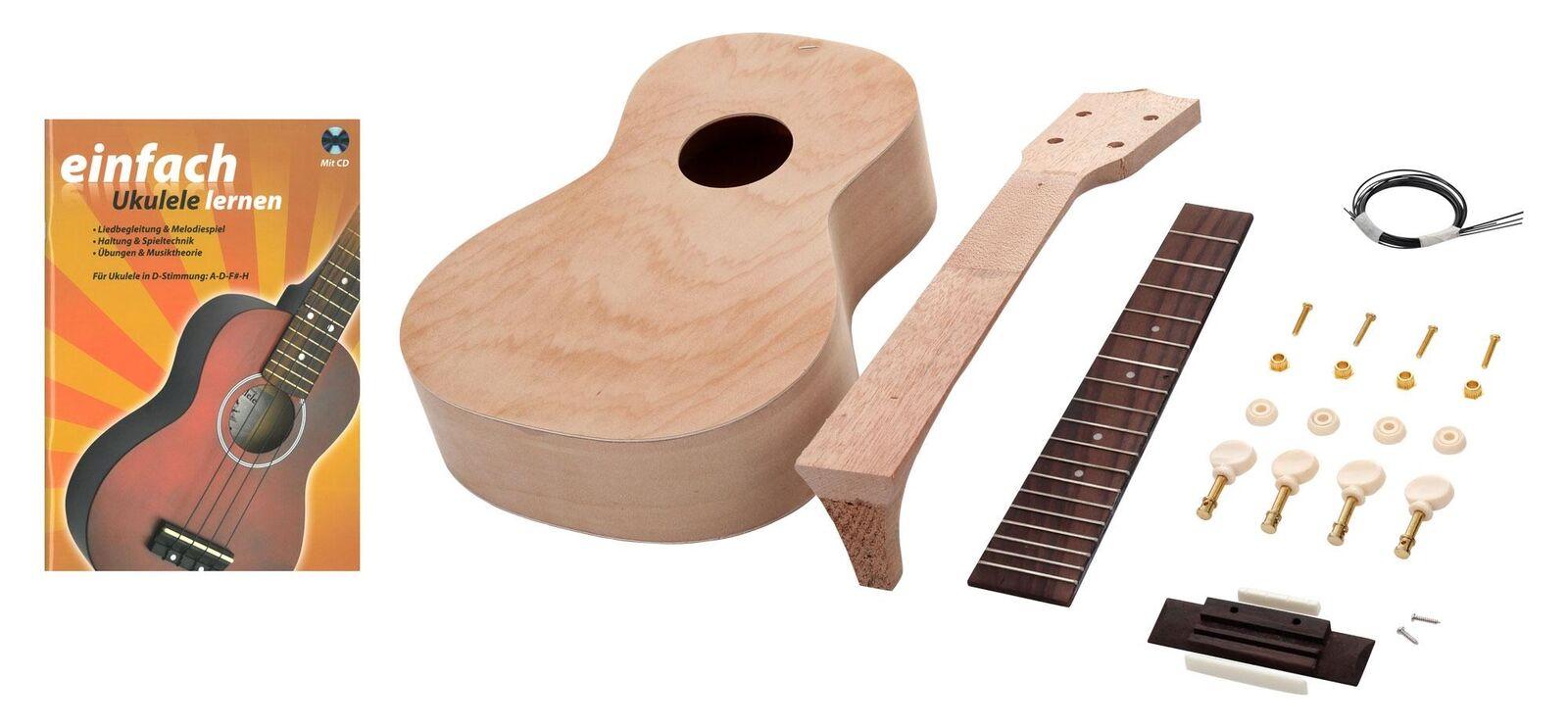Ukulele Bausatz Konzert selber bauen Do It Yourself Set DIY Kit Ukulelenschule