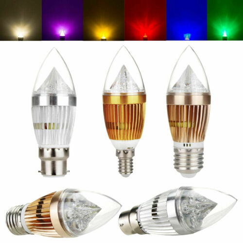 8 Farben Dimmable B22 E27 E14 B15 8W LED-Kronleuchter-Kerzen-Glühlampen-Lampe RD