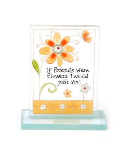 Painted Glass Friends Plaque