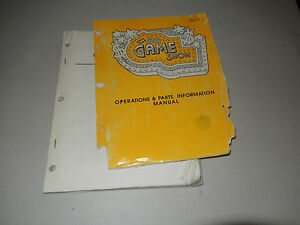 GAME-SHOW-LOOSE-AND-TORN-COVER-PINBALL-arcade-game-owners-manual