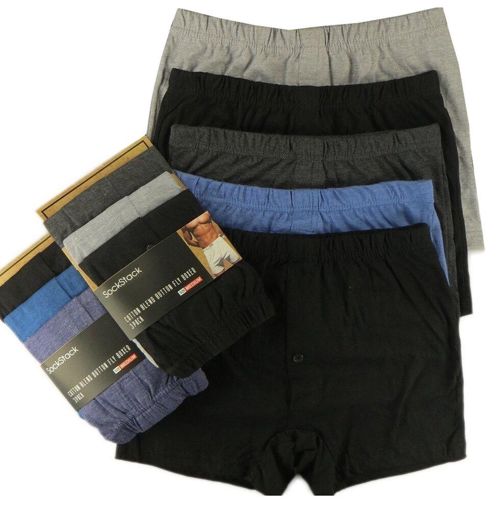 1 X Hommes Plain Boxer Riche En Coton Classique Boxer Shorts S - 6xl