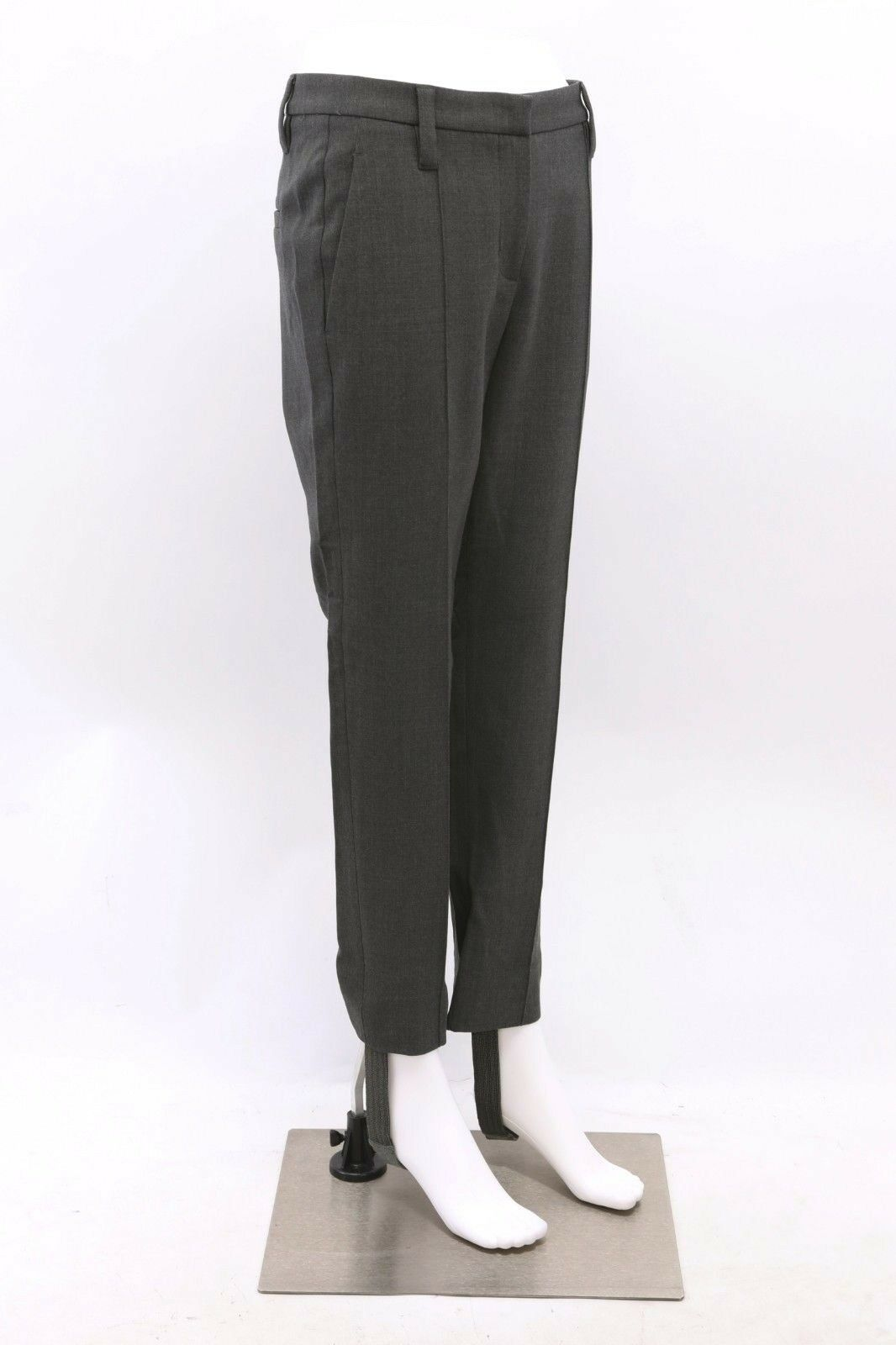 NWT 1775 Brunello Cucinelli Detachable Beaded Stirrup Dress Pants Sz 42 6US A181