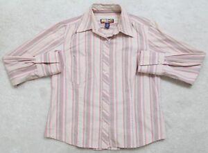 Havana-Jack-039-s-Cafe-Pocket-Dress-Shirt-Small-Striped-Long-Sleeve-Button-Up-Top