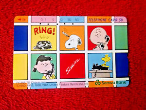 Peanuts,Snoopy, Charlie Brown, Lucy Phone Card-Teleca-For card/coin ...