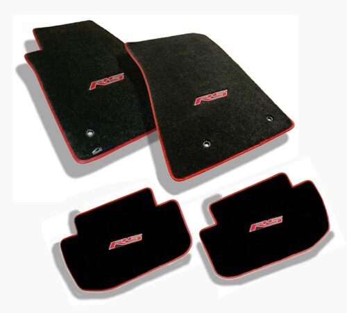Ebony Floor Mats 2010-2015 Camaro Embroidered RS in Red with binding All 4 NEW