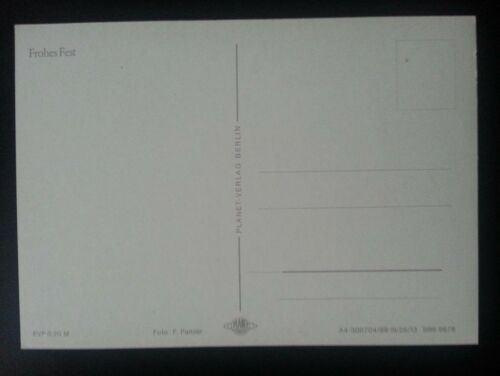 Alte Weihnachtskarte Postkarte ungelaufen Neujahr Weihnachten AK DDR C5