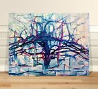 "Piet Mondrian Trees ~ FINE ART CANVAS PRINT 16x12"" Abstact"