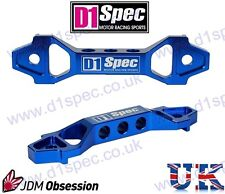 D1 SPEC UNIVERSAL RACING CAR BATTERY HOLDER TIE DOWN BRACKET BLUE SHORT TYPE JDM