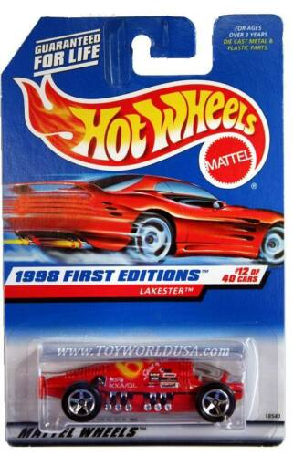 1998 Hot Wheels #647 First Edition #12 Lakester (red car card)