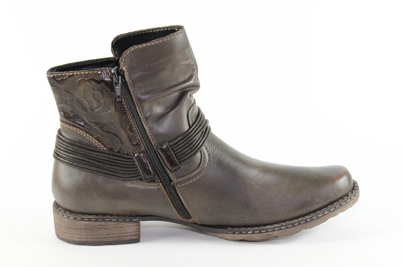 Remonte D4363-27, warme Stiefelette aus braunem Leder, Damenschuhe Übergröße Übergröße Damenschuhe 4b53a8