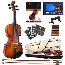 Cecilio 1/4 CVN-320L Left Handed Ebony Violin +Book/Video+Tuner+Case