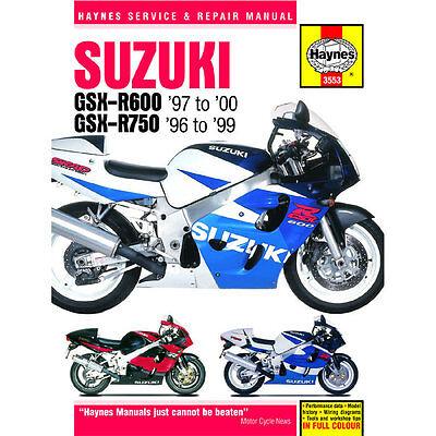 Suzuki GSX-R600 GSZ-R750 1996-2000 Haynes Workshop Manual