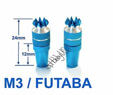 1Set M3 Thumb Stick Update for FUTABA/Spektrum Transmitter Light Blue 016-03002C