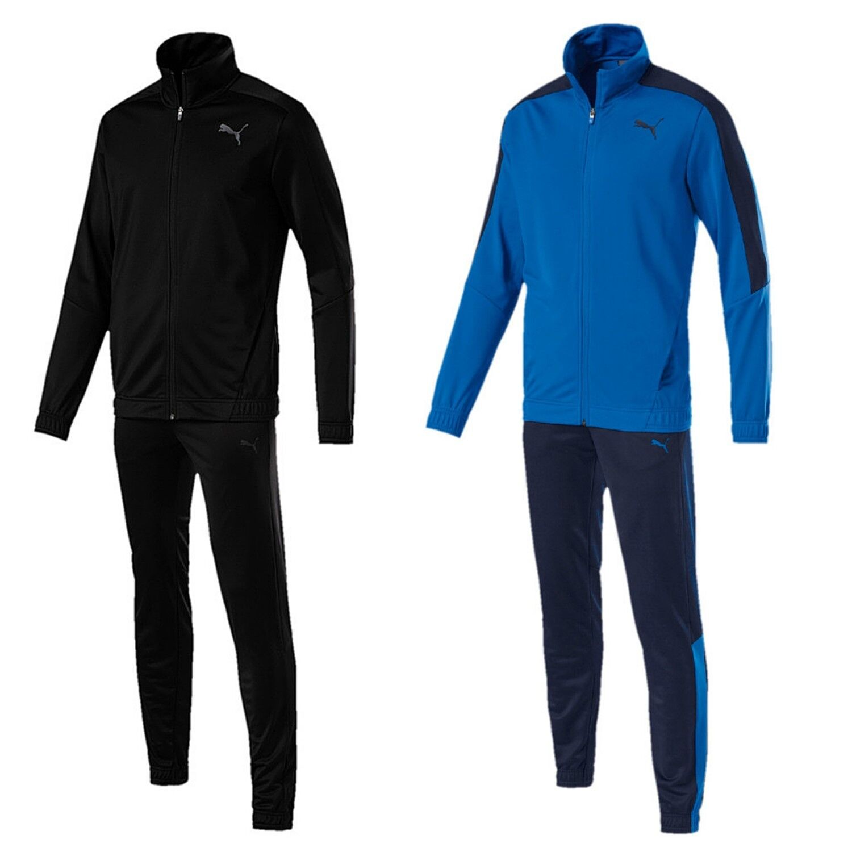 Puma Jogging Anzug Herren Männer Trainingsanzug Sportanzug schwarz blau
