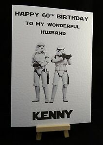 Personalised handmade star wars stormtrooper birthday card dad image is loading personalised handmade star wars stormtrooper birthday card dad bookmarktalkfo Images