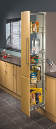 Height Adjustable 1700-2200mm 300mm Width Pull Out Larder Unit Centre Mounting