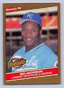 Details About 1986 Bo Jackson Donruss Highlights Rookie Baseball Card 43 Kc Royals