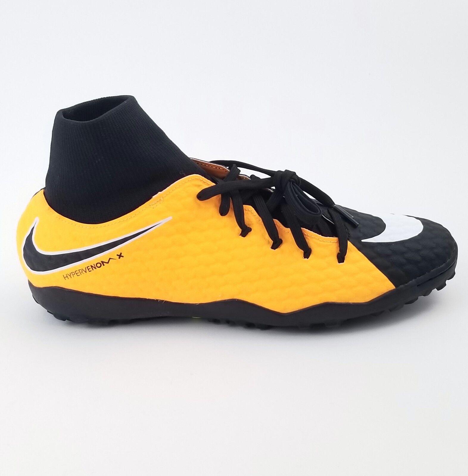 NIKE HyperVenom Phelon 3 DF TF orange Mens Sz 8.5 Indoor Soccer shoes 917769-801