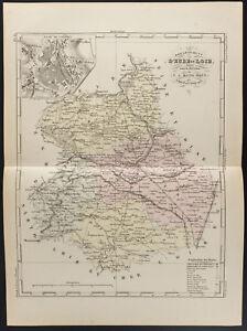 100% De Qualité 1855 - Carte Ancienne Du Département D'eure Et Loir, Par Dufour Large SéLection;
