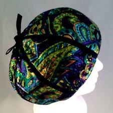 Antique Mr John Young Elegants 1947-1964 Black/Green/Gold Satin Hat Calot