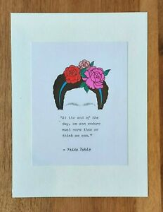 Frida Kahlo Quote, Vintage Typed and Hand Painted