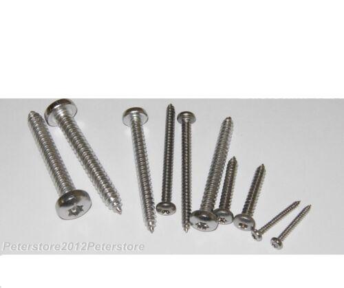 50 Blechschrauben DIN 7981 TX 2,9mm Edelstahl VA Linsenkopf Blechschraube