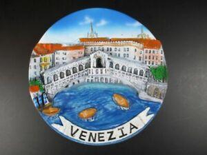 Venice-Rialto-Bridge-Collection-Plate-14-CM-Poly-Italy-Italy-Travel-Souvenir-New
