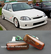 For 96-00 Civic Replacement SMOKED AMBER DOME Side Marker Lights Lamp EK SI JDM
