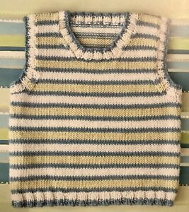 Ci42 - Knitting Pattern for a 4-ply Baby's Tiny Tank Top ...