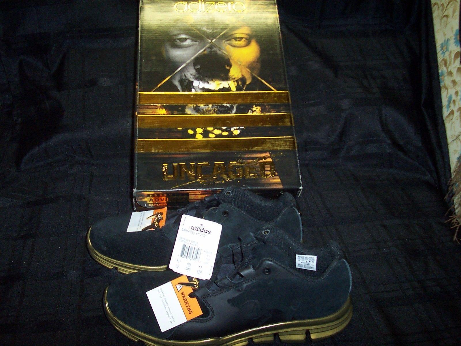 NEW Adidas Gameday Snoop Uncaged Men's AQ8453 Training Shoes Black Gold AQ8453 Men's NIB ce23a9