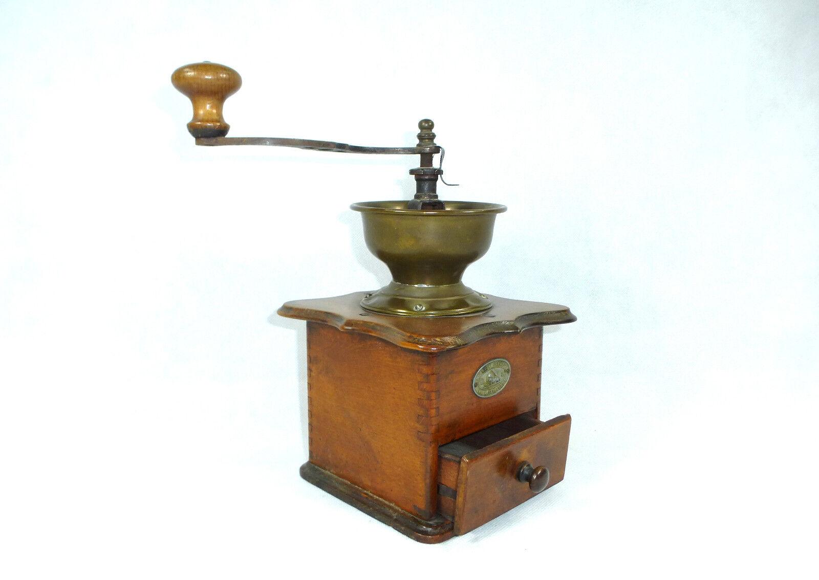 Unusual Coffee Mill tischmühle um 1860 FRANCE Belgium en acier forge