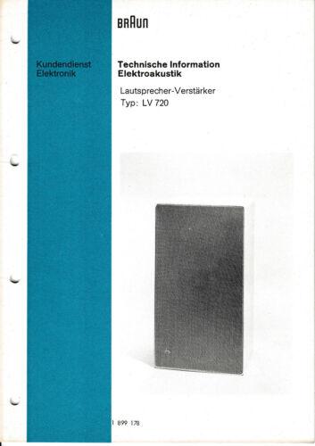 TV, Video & Audio Service Manual-Anleitung fr Braun LV 720 ...