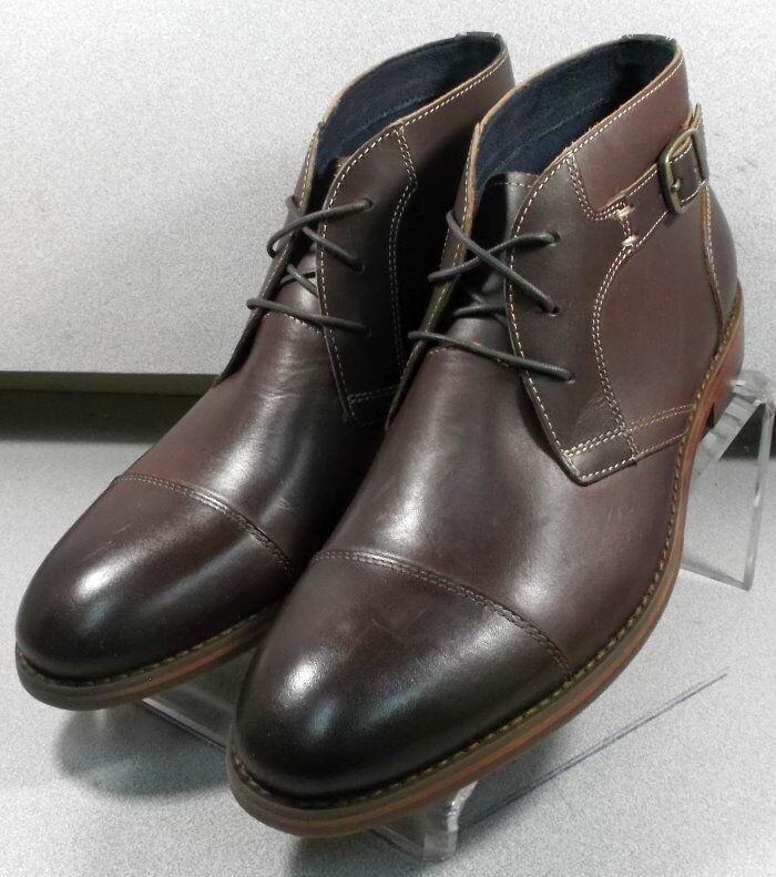 592214 msbt 50 para hombres zapatos M Marrón Cuero Con Cordones botas Johnston & Murphy