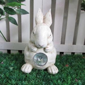 Gardenwize Solar LED Light Garden Home Yard Bunny Rabbit Decoration Ornament