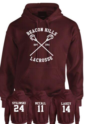 Leuchtfeuer-hügel-Lacrosse Kapuzenpulli Teen Wolf Stilinski Lahey McCall Unisex