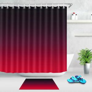 Image Is Loading Bathroom Accessories Mat Red Black Grant Shower Curtain