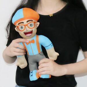 13 inch Blippi Plush Figure Toy Soft Stuffed Doll for Kids Gift