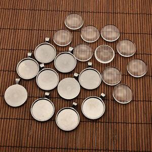10-conjuntos-25-mm-abovedado-Lupa-Cabujon-Colgante-Foto-Aleacion-Cubierta-Para-Hacer