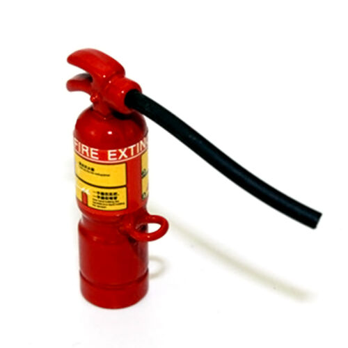 Dollhouse Miniature 1:12 Toy A Metal Alloy Red Fire Extinguisher 8*30mm Super